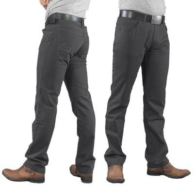 Duże Spodnie Męskie Bawełniane 844 120 cm stalowy