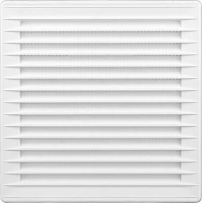 Kratka wentylacyjna 17x17 regulowan z siatką biała