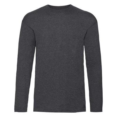 Koszulka Fruit of the Loom długi rękaw Dark Grey L