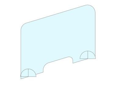 Osłona plexi szyba ochronna NA BIURKO 120x70 cm