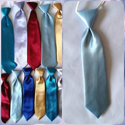 Duży błękitny Krawat młodzieżowy satynowy 8-12 l