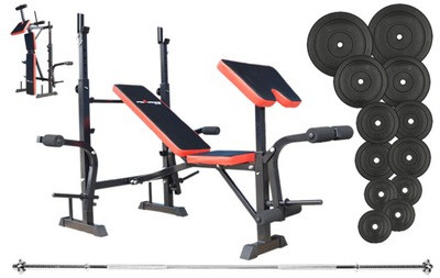 Sada na cvičenie s lavičkou 79 kg NEGATÍVNE