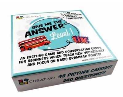KARTY DO KONWERSACJI Give Me the Answer Level 1