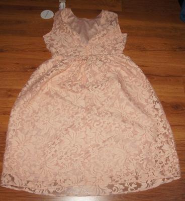 BOOHOO sukienka z koronki wesele komunia 40-42 XL