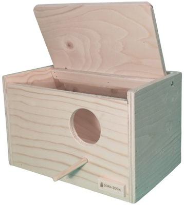 будка гнездования для попугаев 30x19x19cm Нимфа,Коза ..