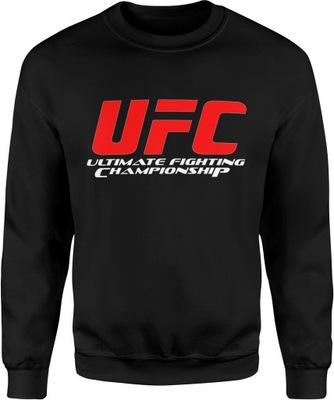 MĘSKA BLUZA BAWEŁNIANA Z NADRUKIEM UFC MMA R. L