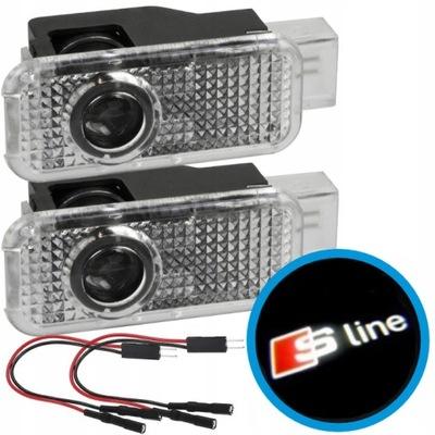 PROJEKTOR LED LOGO S-LINE AUDI A3 A4 A5 A6 A7