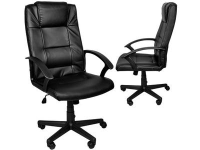 Fotel Biurowy Obrotowy Krzesło Bujanie Eko Skóra
