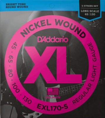 Struny do gitary basowej basu Daddario EXL170-5