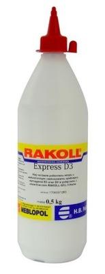 Klej do drewna RAKOLL EXPRESS D3 500g WODOODPORNY