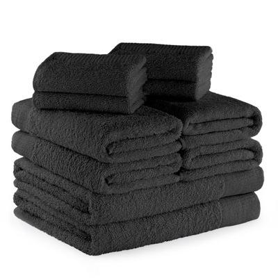 комплект Полотенца темно-Серый ХЛОПОК 10 штук .