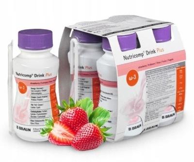 NUTRI Comp DRINK 4x 200ml PROTEINY sm. truskawkowy