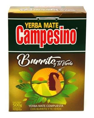 Yerba Mate Verde Burrito Campesino Elaborada 500 g
