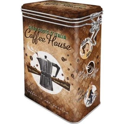 KOVOVÉ BANKA KLIP 1.4 L KÁVA COFFE RETRO