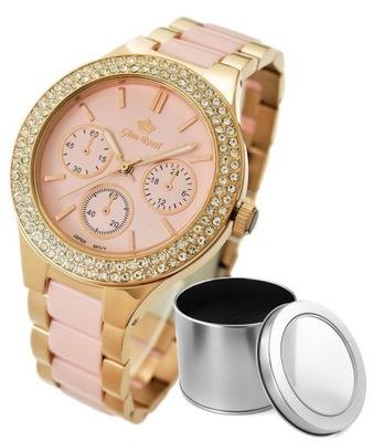 Zegarek Damski Gino Rossi różowy + PUDEŁKO