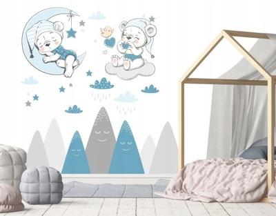 Samolepky na stenu pre deti medvedíky mračná hory