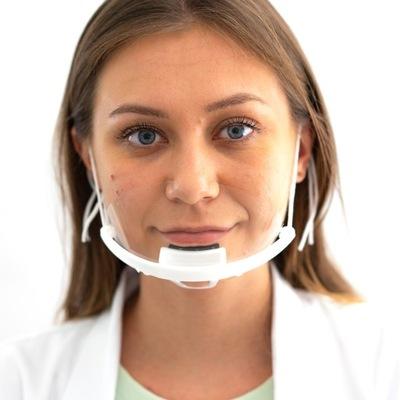 Mini przyłbica na brodę maska ochronna na twarz