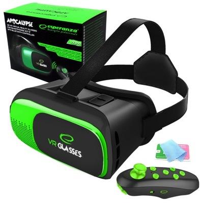 OKULARY GOGLE VR 3D Z PILOTEM BLUETOOTH ESPERANZA