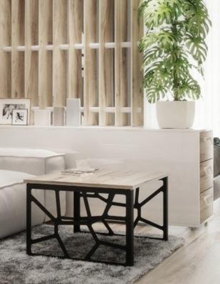 Nowoczesny stolik kawowy ażurowy ława FRESCO 70x60