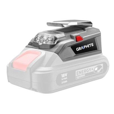 Adapter USB – latarka LED do aku Energy+ 58G025