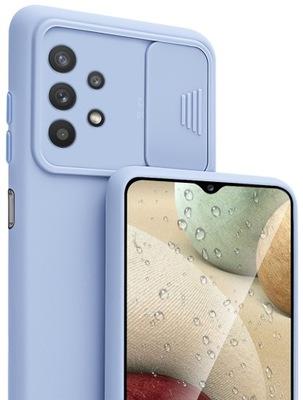 Etui SILICONE CamShield Szkło do Samsung A32 5G
