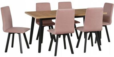комплект скандинавский стол  ??????????  140 +6 стульев