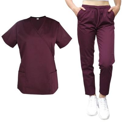 Mundurek medyczny bluza z trokiem spodnie roz. XL