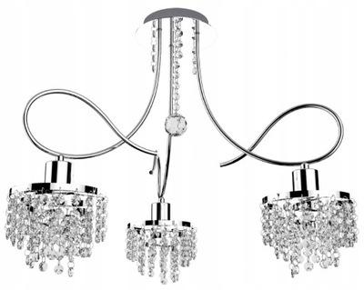 Lampa sufitowa wisząca TINA 3 żyrandol kryształki