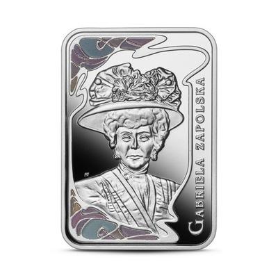 20 zł, Gabriela Zapolska, Srebrna moneta, 2021
