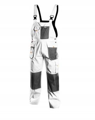 Spodnie robocze na szelkach białe NEO M/50 81-140