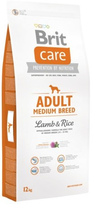 BRIT Care Adult Medium Breed lamb  rice 12 кг