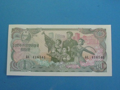 Korea Płn. Banknot 1 Won P-18 UNC 1978