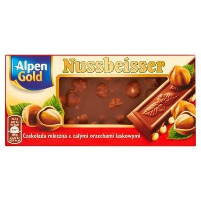 Alpen Gold Nussbeisser Czekolada mleczna z całymi