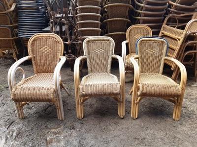 ładne fotele rattanowe 30 szt