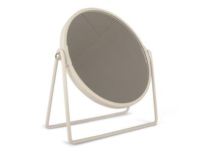 Zrkadlo, kov, biela 18.5 cm