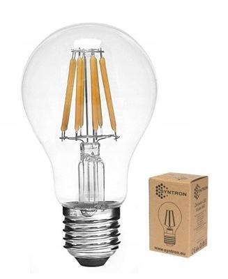 Żarówka LED Filament E27 12W biała zimna Edison