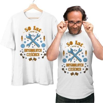Koszulka 50 lat Oryginalne części dla ojca XL
