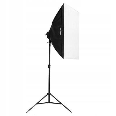 LAMPA studyjna + softbox 50x70 + 325W statyw foto