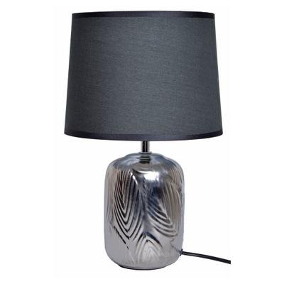 Lampy, stolové lampy, strieborné keramické s odtieň