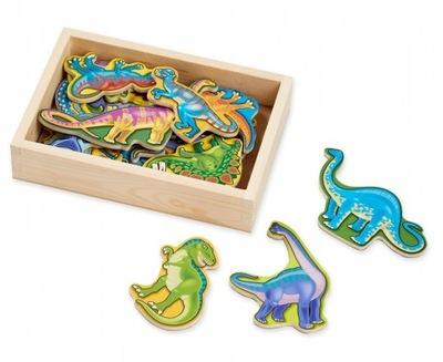Drewniane Magnesy na Lodówkę Dinozaury Melissa
