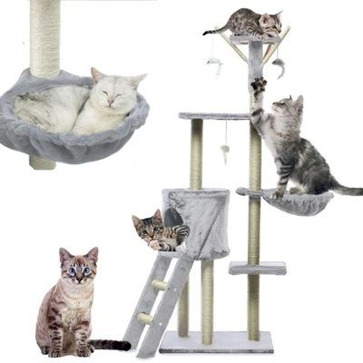 CAT CLIPPER Strom hračiek, Dom myší, 138cm