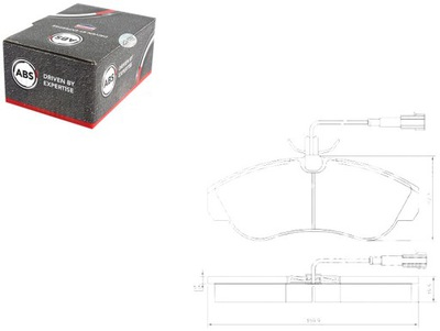 КОЛОДКИ ТОРМОЗНЫЕ FIAT DUCATO 2.8 TDI (230L)