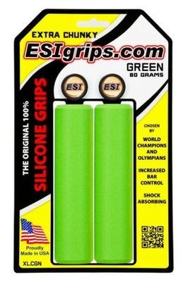 Chwyty Esi Grips Extra Chunky zielone + korki