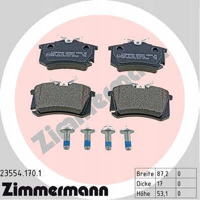 диски колодки zimmermann p + t audi a4 b6 288mm, фото 5