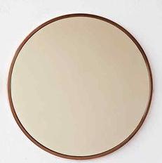 Okrúhle zrkadlo, medený kruh, priemer 50 cm