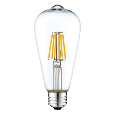 ЛАМПА E27 LED filament 6W 600lm светодиодный=50W Нарядная ST64
