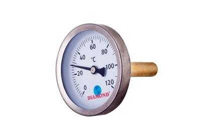 Ciferníkový teplomer 63 mm 0 - 120 stupňov 1/2 palca
