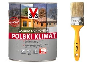 V33 3V3 Lazura Ochronna Polski Klimat 5L+PĘDZEL