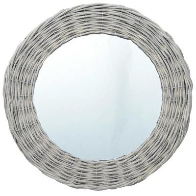 Okrúhle zrkadlo s prúteným rámom 60 cm