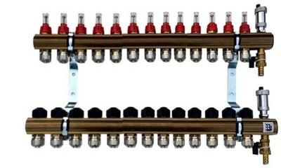 Mosadzné potrubie 13 prietokových svoriek ventily 633